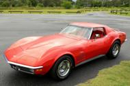 1971 CORVETTE FACTORY  RED  ON  RED  CAR